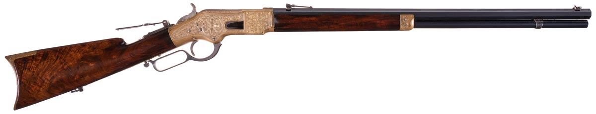 gold engraved Winchester 1866