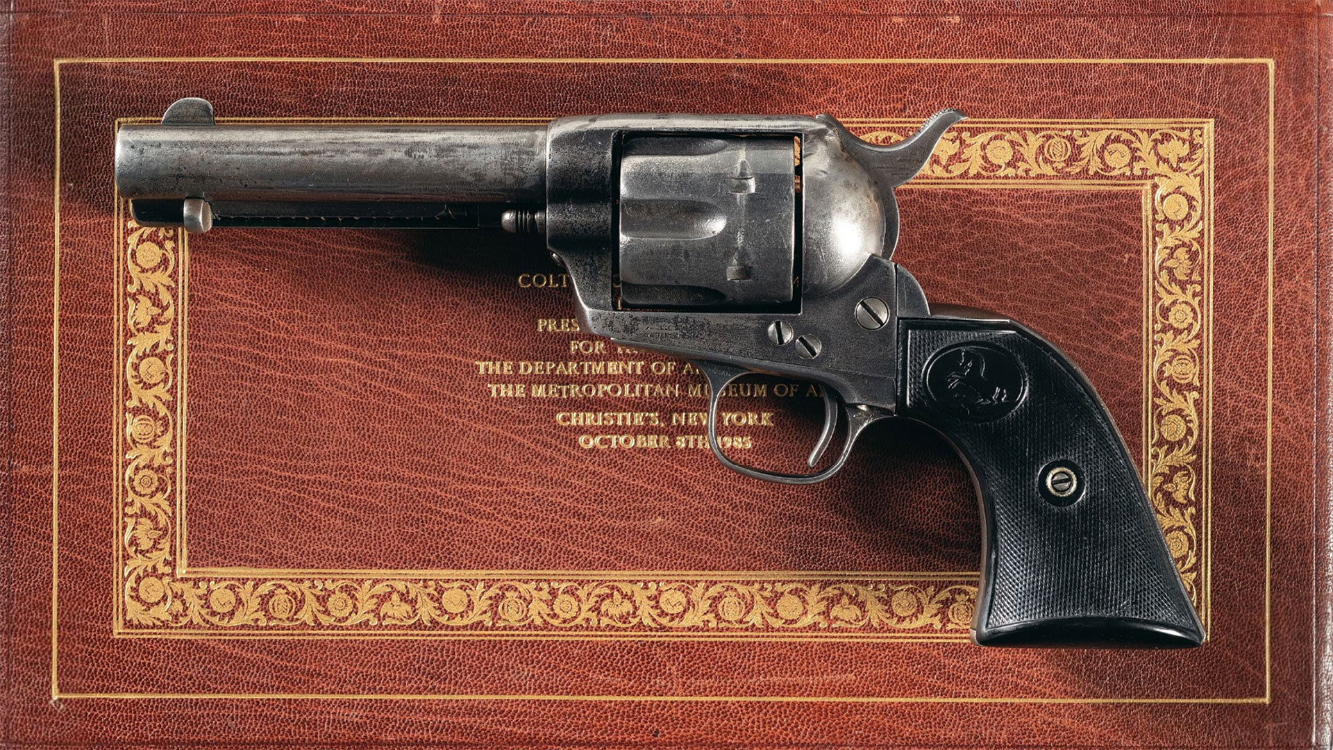 Antique-Colt-Black-Powder-Frame-Single-Action-Army-Revolver-Gene-Autry
