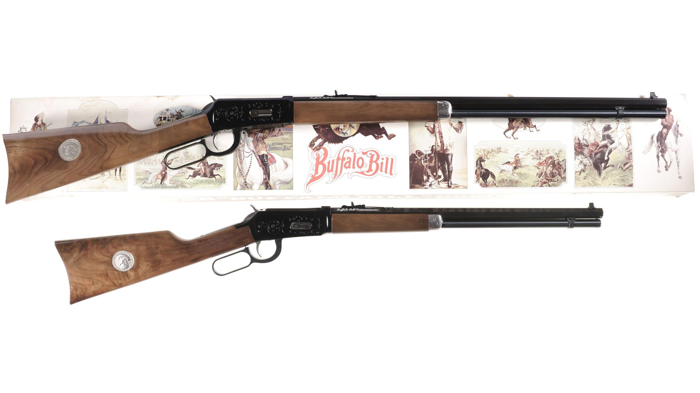 Two Winchester Model 94 Buffalo Bill Commemorative Lever