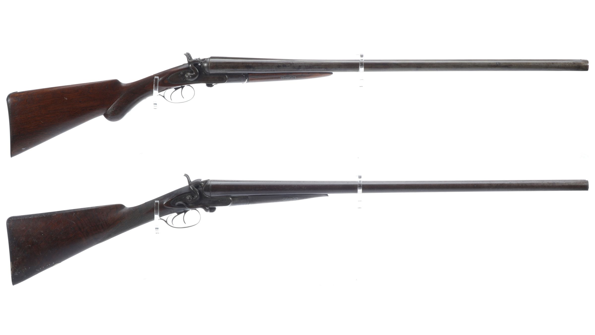 Two Double Barrel Shotguns