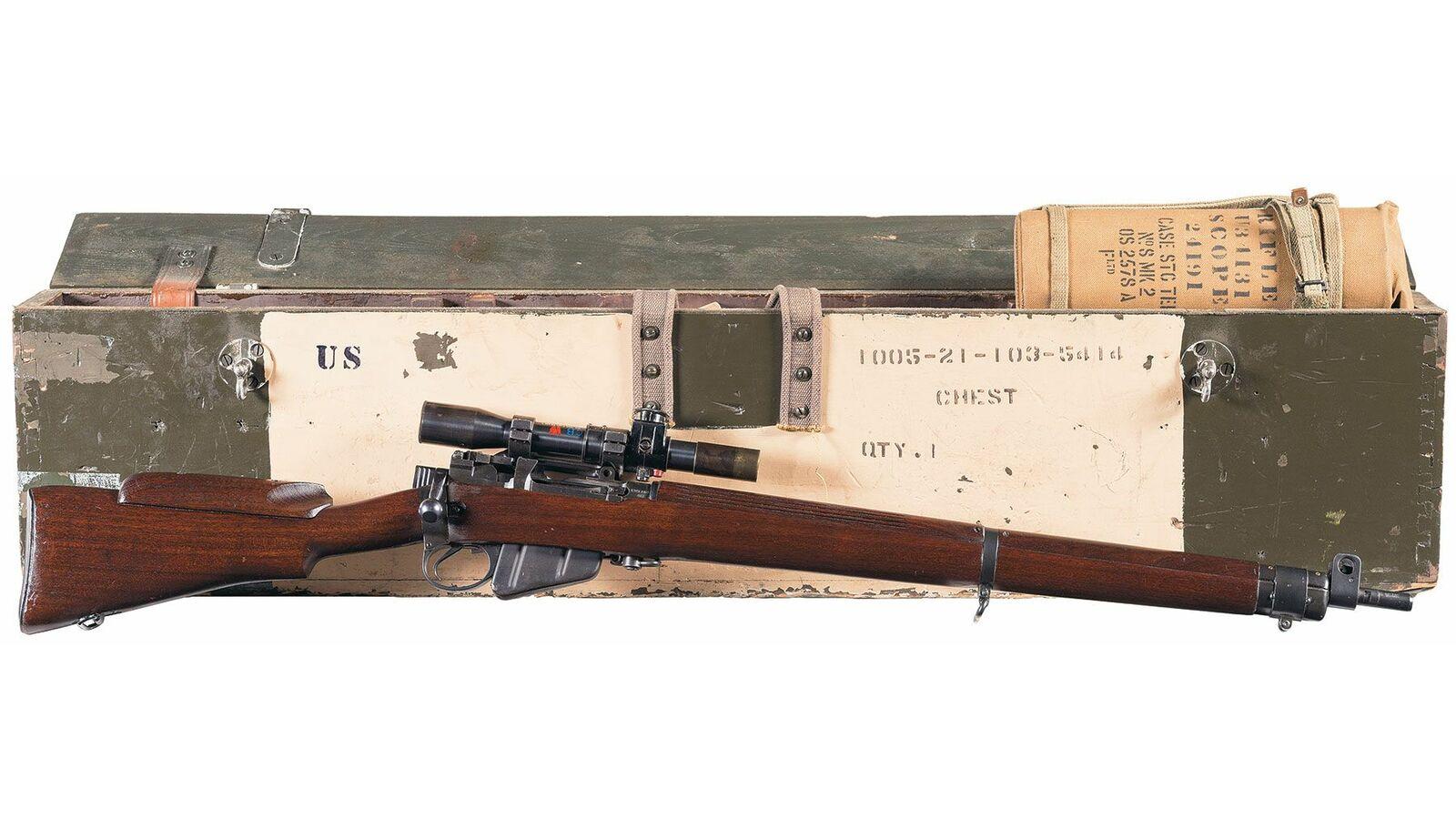 Canadian Long Branch No 4 Mk  I* (T) Bolt Action Sniper