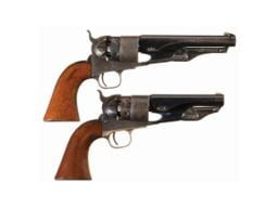 Pair of Prominent California Pioneer Family Owned and Inscribed Colt Model 1860 Army  Percussion Revolvers -A) Colt Model 1860 Army Revolver