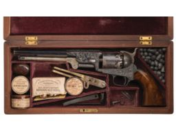 Exceptional Early Production Cased Factory Engraved Colt Model 1851 Navy Percussion Revolver